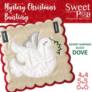 Mystery Christmas Bunting Day 16 Block - Sweet Pea In The Hoop Machine Embroidery Design