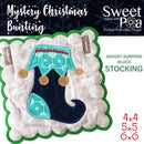 Mystery Christmas Bunting Day 12 Block - Sweet Pea In The Hoop Machine Embroidery Design