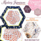 Mystery Japanese Hexagon Quilt BOM Block 5 - Sweet Pea In The Hoop Machine Embroidery Design