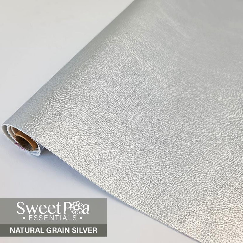 Perfect Pro™ Faux Leather - NATURAL GRAIN SILVER 1.0mm