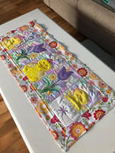 Spring Chickens Table Runner 5x7 6x10 8x12