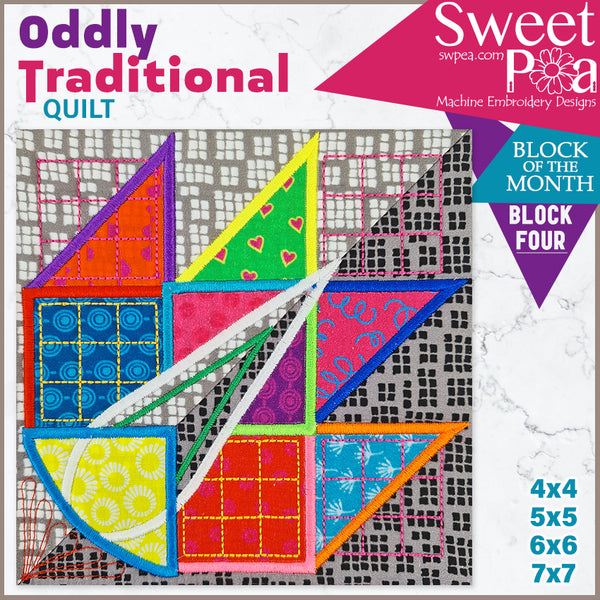 Oddly Traditional Quilt BOM Sew Along Quilt Block 4