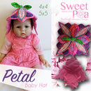 Petal Baby Hat 4x4 5x5 - Sweet Pea In The Hoop Machine Embroidery Design