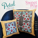Petal Pillow Quilt Block 4x4 5x5 6x6 7x7 and 8x8 - Sweet Pea In The Hoop Machine Embroidery Design