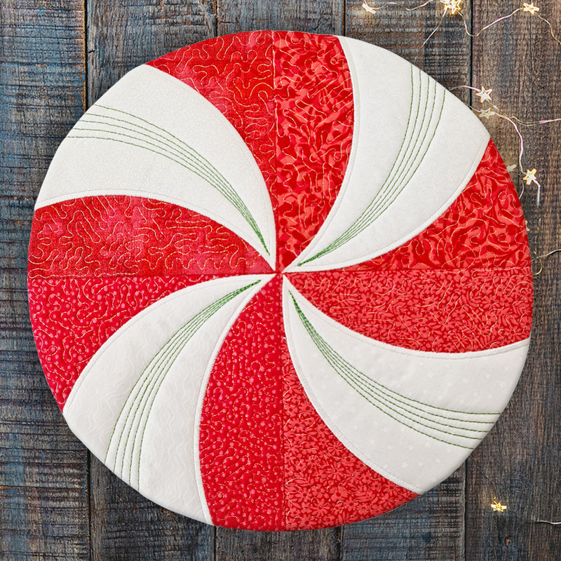 Peppermint Swirl Placemat & Coaster Set