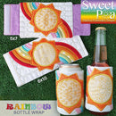 Rainbow Bottle Wrap 5x7 6x10 - Sweet Pea In The Hoop Machine Embroidery Design