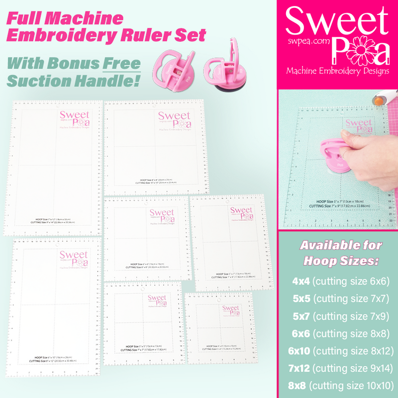 Machine Embroidery Ruler Set