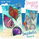 Sea Shells Colouring in Mugrug 6x10 and 7x12 - Sweet Pea In The Hoop Machine Embroidery Design