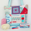 Crochet Tote Bag & Hook Wrap Set