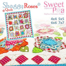 Shaggy Roses Quilt 4x4 5x5 6x6 7x7 - Sweet Pea In The Hoop Machine Embroidery Design