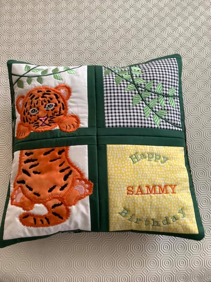 Tiger Birth Announcement 4x4 5x5 6x6 8x8