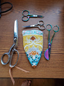 Free Embroidered Scissors Zipper Case 5x7 7x12