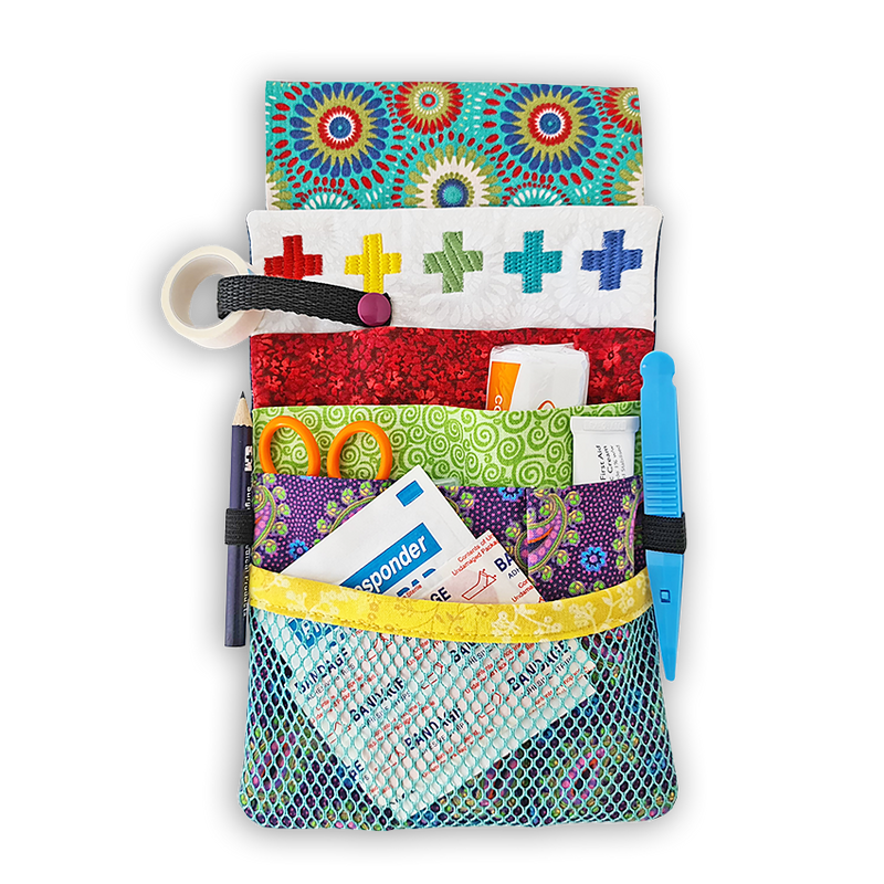 MEDICAL ORGANISER BELT KIT (FABRIC AND EMBROIDERY FILES)