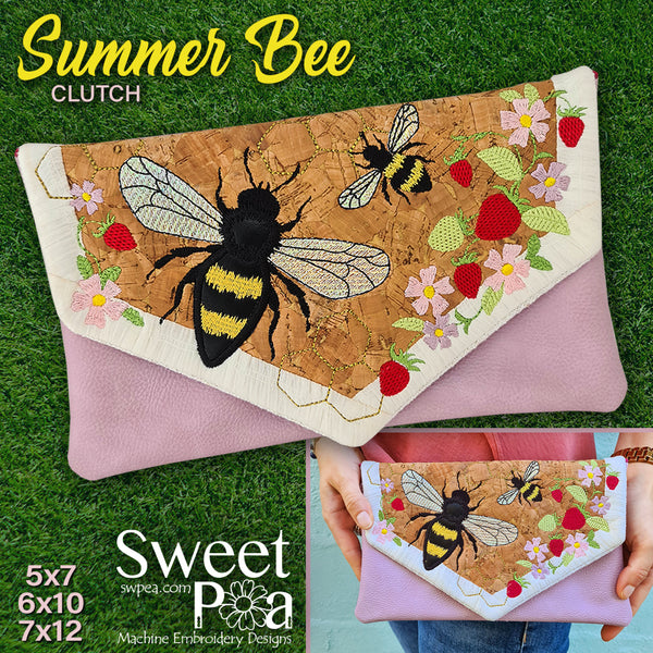 Summer Bee Clutch 5x7 6x10 7x12