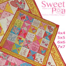Sweety Pie Quilt 4x4 5x5 6x6 7x7 - Sweet Pea In The Hoop Machine Embroidery Design