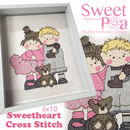 Sweethearts Cross Stitch in the 6x10 - Sweet Pea In The Hoop Machine Embroidery Design