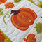 Pumpkin Quilt Block and Table Runner 5x7 6x10 8x12 9.5x14