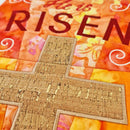"This is an easter wall hanging or table runner with the words ""He is Risen"" that can be sewn in the 5x7, 6x10 or 7x12 hoop.  Full photo instructions and directions are included with your purchase. It is our intention to offer you the best service always and for our designs to be of the highest quality."
