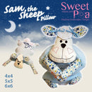 Sam The Sheep Pillow 4x4 5x5 6x6 - Sweet Pea In The Hoop Machine Embroidery Design