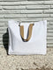 White Terry Cloth Tote