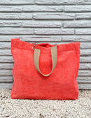 Tangerine Terry Cloth Tote