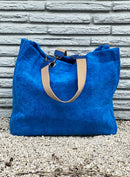 True Blue Terry Cloth Tote