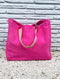 Fuschia Terry Cloth Tote