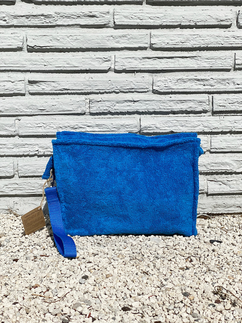 Large True Blue Terry Pouch