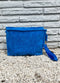 Small True Blue Terry Pouch