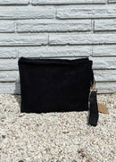 Small Black Terry Pouch