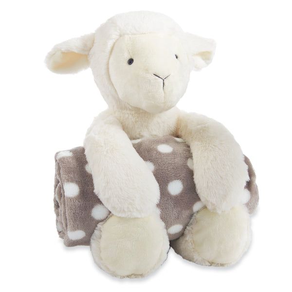 Lamb Stuffed Animal with Blanket