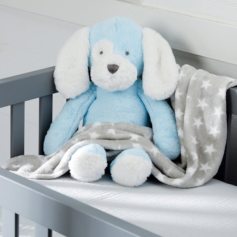 Puppy Stuffed Animal with Blanket