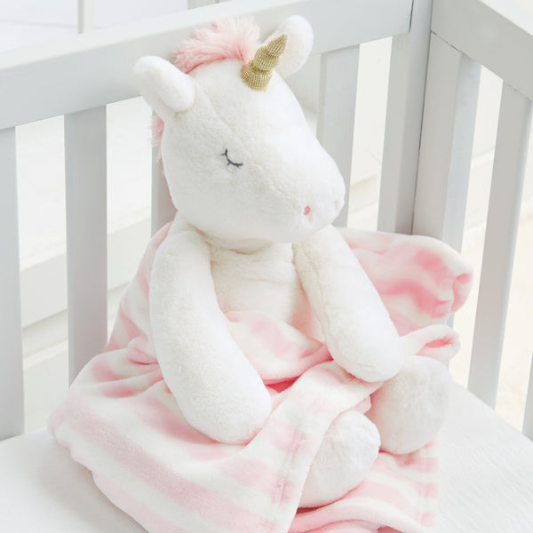 Unicorn Stuffed Animal with Blanket