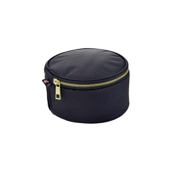 "6"" Black Brass Button Bag"
