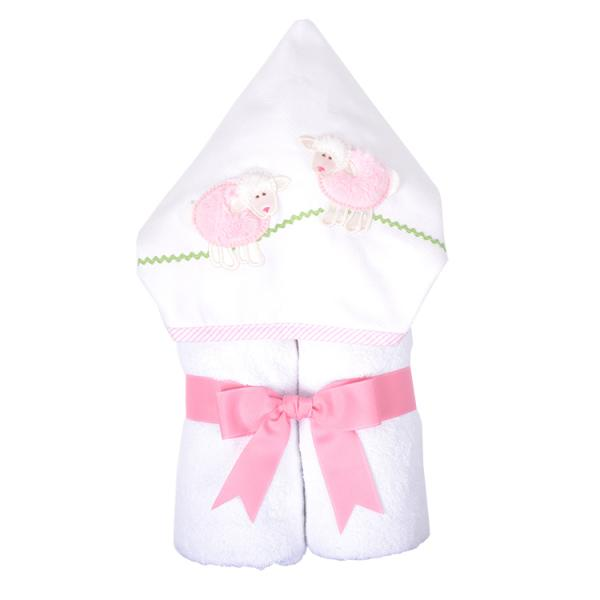 Pink Little Lamb Towel