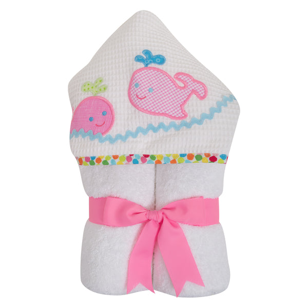 Pink Whale Towel