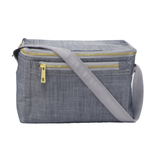 Grey Chambray Lunch Box
