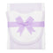 Lilac Seersucker Drooler Bib & Burp Cloth Set