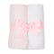 Pink Seersucker Set of 2 Burp Cloths