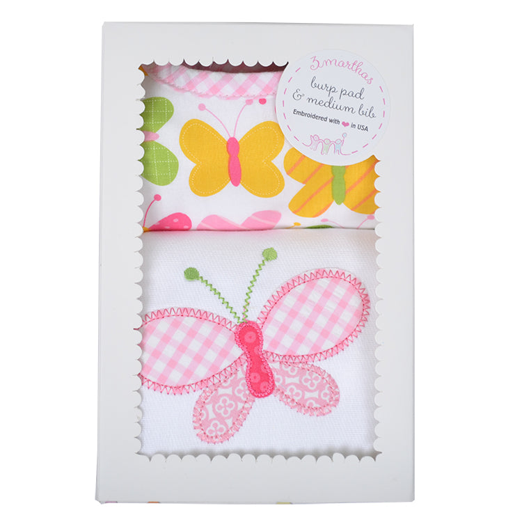 Butterfly Bib & Burp Box