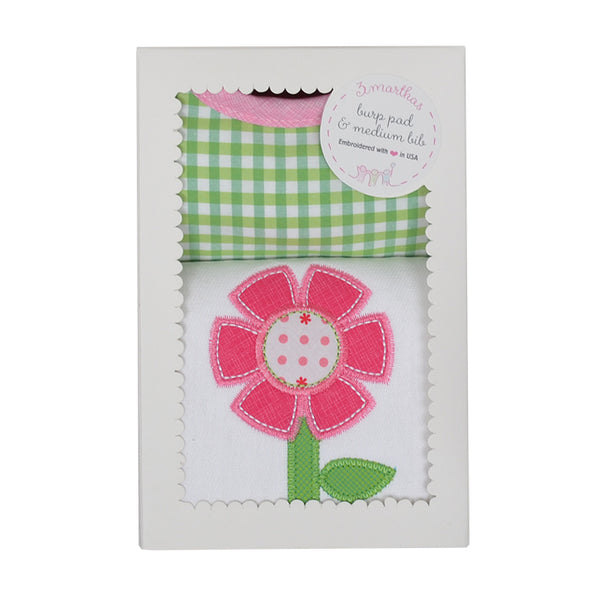 Flower Bib & Burp Box