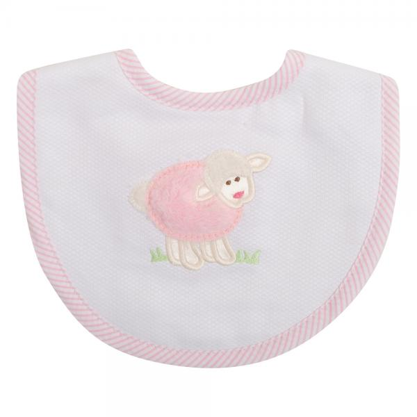 Pink Little Lamb Medium Bib