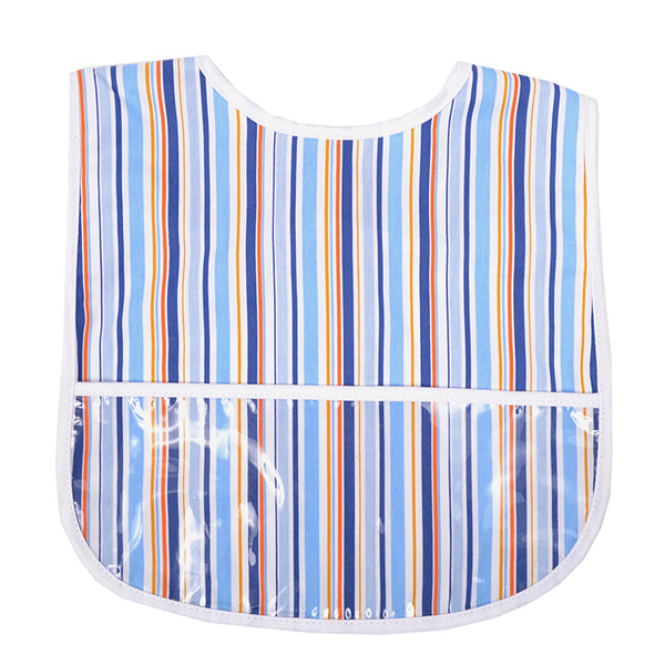 Blue Stripe Laminated Bib