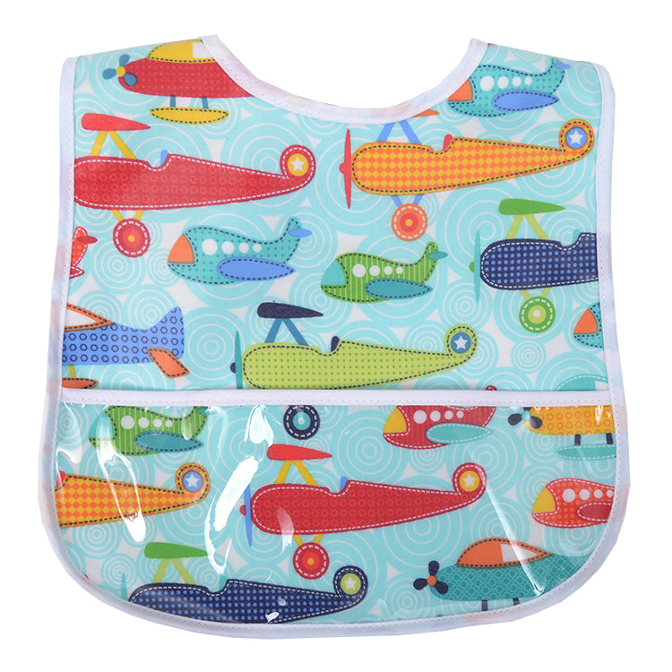 Playful Planes Laminated Bib