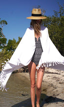White Fringed Terry Towel