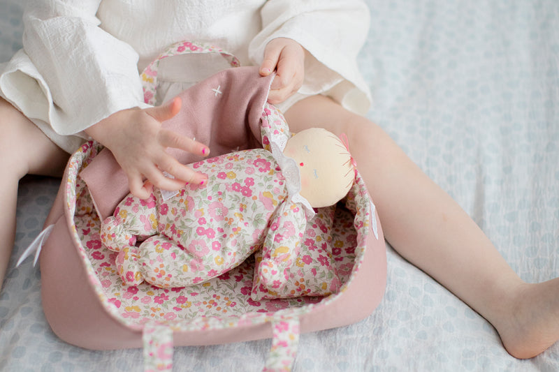 Asleep Awake Baby Doll with Carrier Set