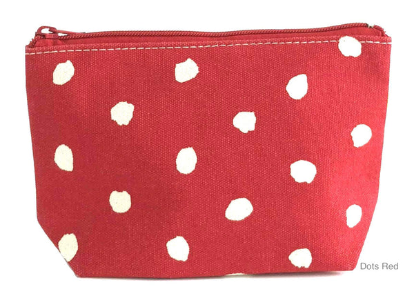 Red Dots Small Travel Pouch