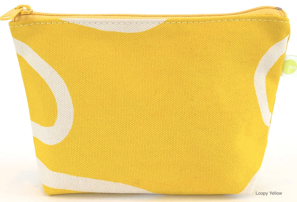 Yellow Loops Small Travel Pouch