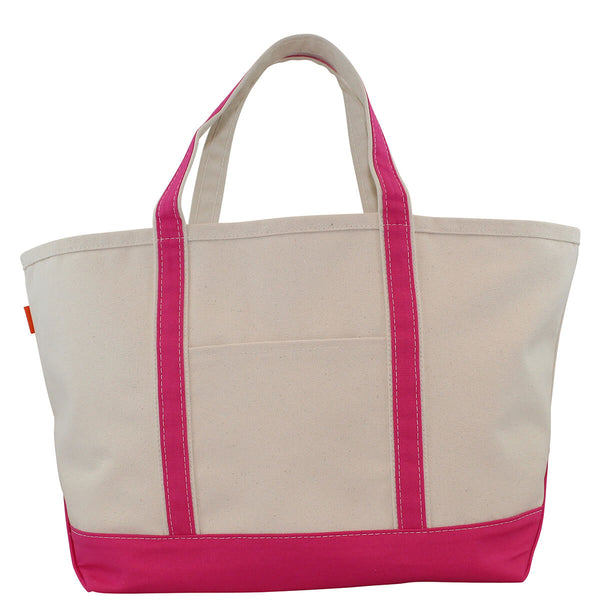 Large Boat Tote Hot Pink
