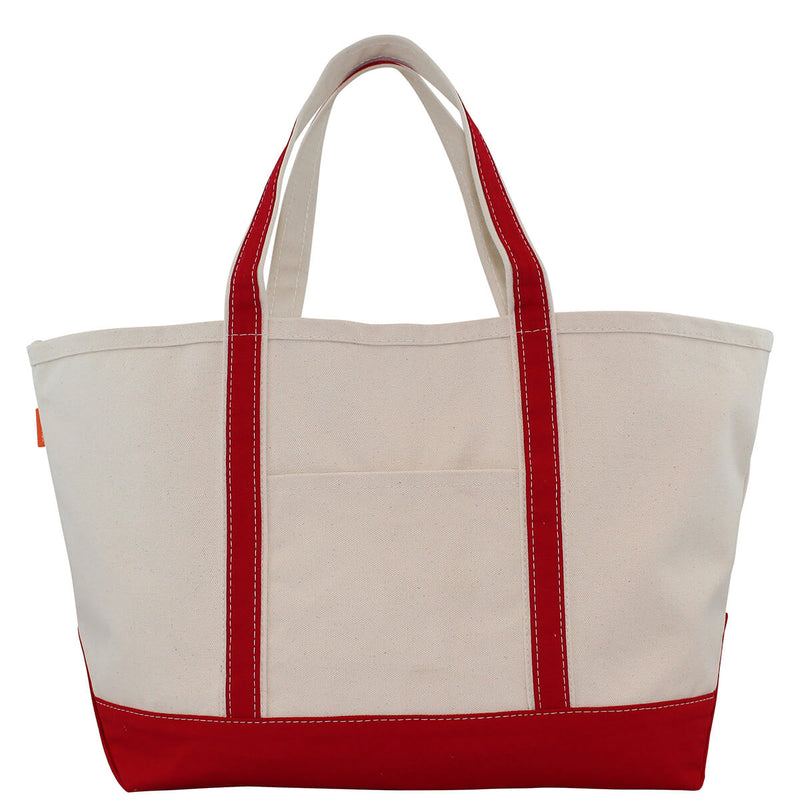 Large Boat Tote Red